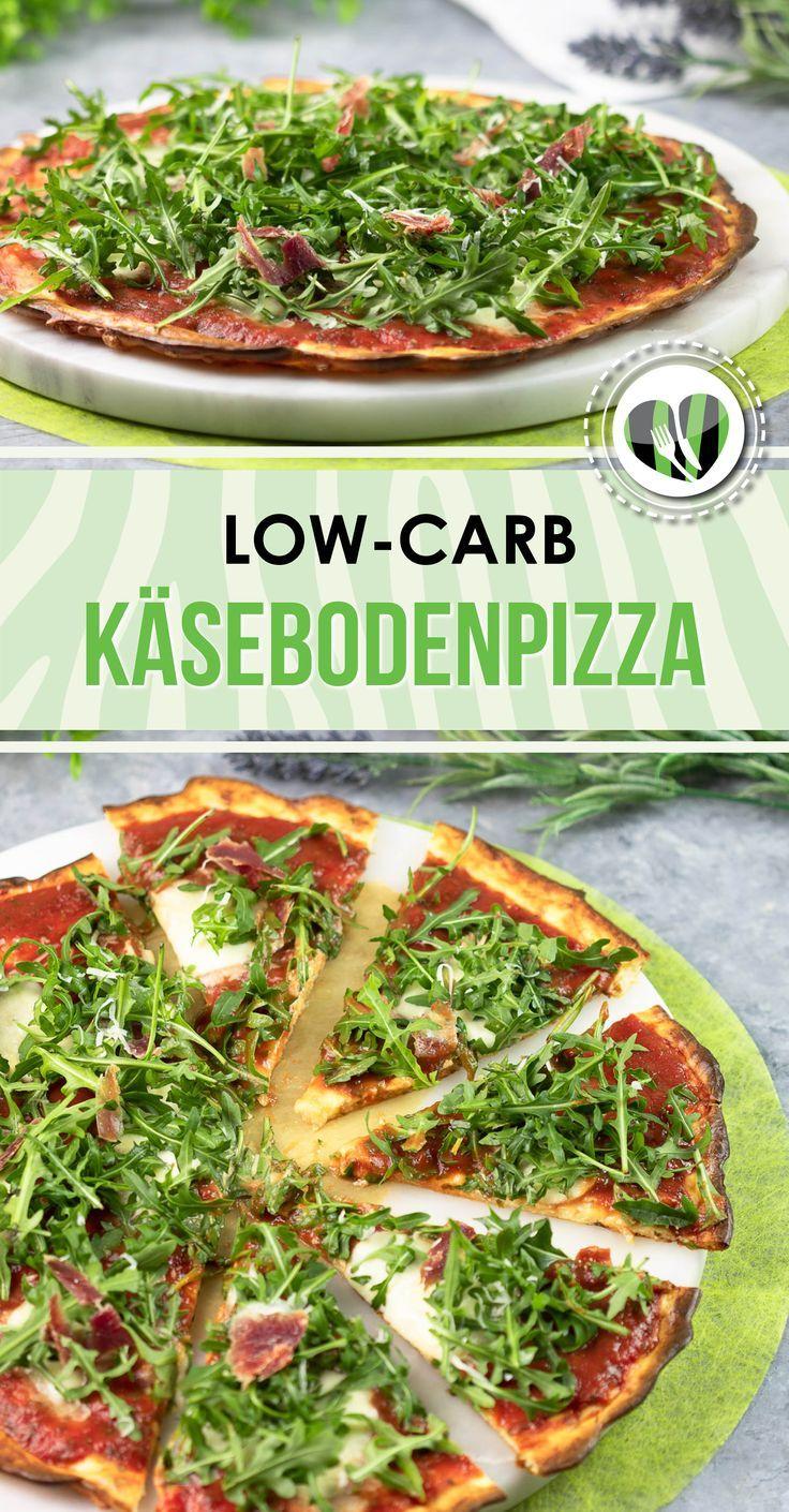 Die Käsebodenpizza ist Low Carb, glutenfrei und zuckerfrei. Die Pizza ist einfa…
