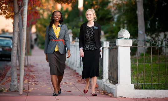 Shoe examples for sister missionaries, I notice not a single pair of heels.  With all the walking they do, it's no wonder!  Still, these are stylish enough!