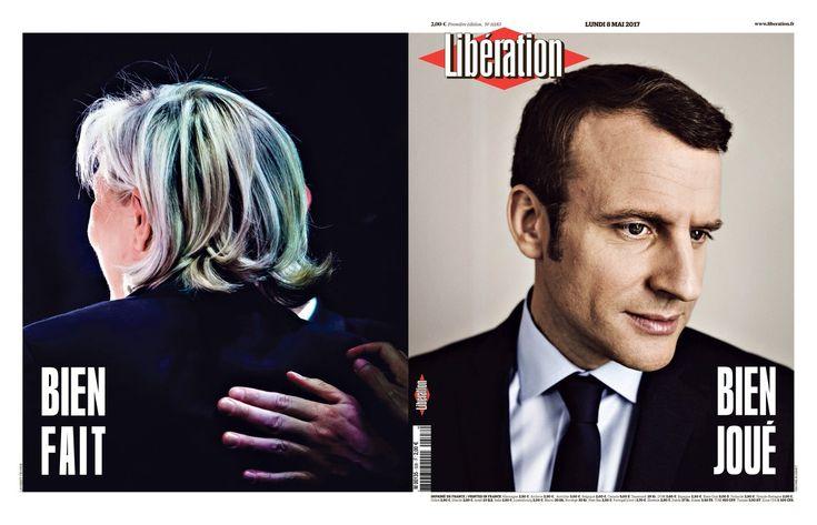 Primeiras páginas: como os jornais viram a vitória de Macron - PÚBLICO