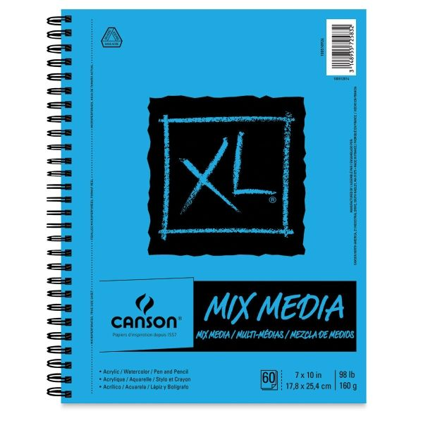 Canson Xl Series Mix Media Pad 8 Best Watercolor Sketchbooks In 2019 Sketch Book Mixed Media