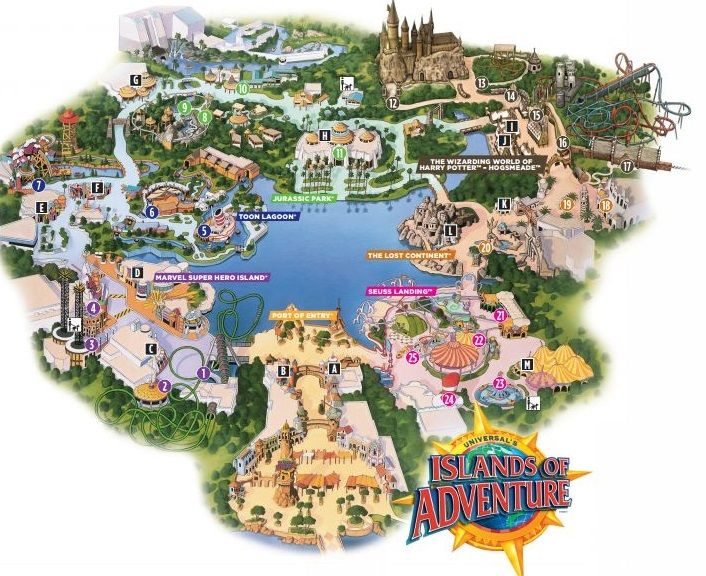 Islands Of Adventure Map Image Credit Universal Orlando Resort Universal Islands Of Adventure Island Of Adventure Orlando Universal Studios Orlando Map