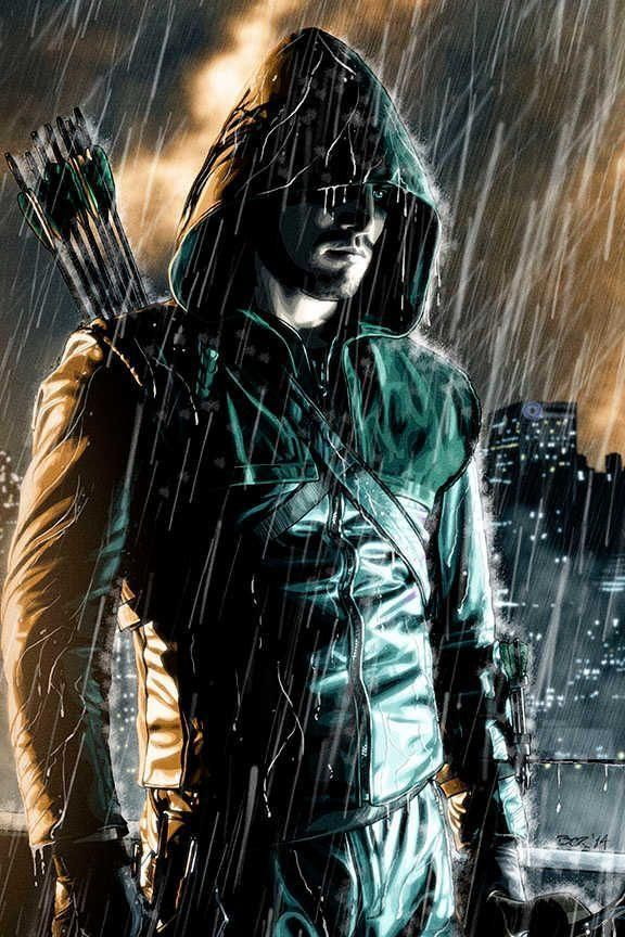 Stephen Amell as Oliver Queen / The Green Arrow