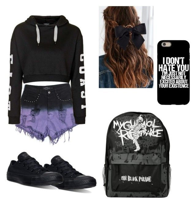 """Untitled #26"" by tadevicha on Polyvore featuring Evil Twin, Topshop, Converse and Chanel"