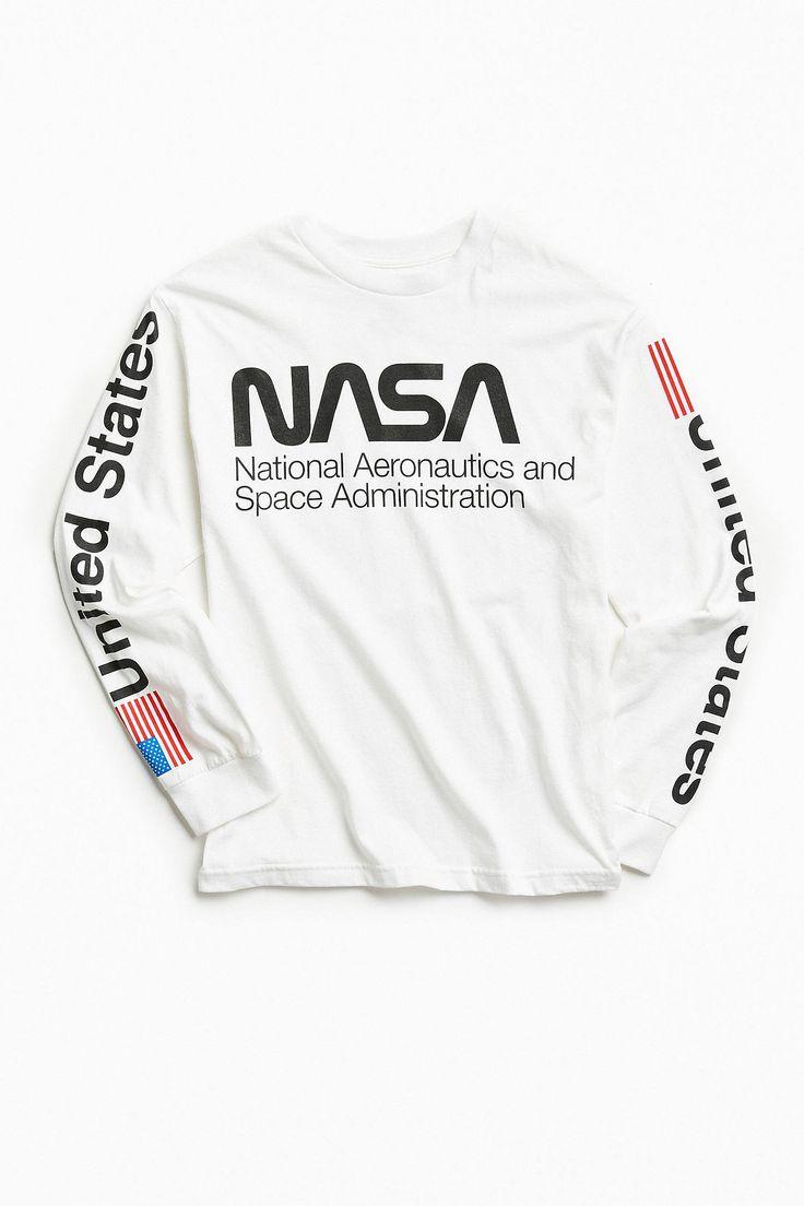 NASA Worm Logo Long Sleeve Tee Nasa clothes, Nasa shirt