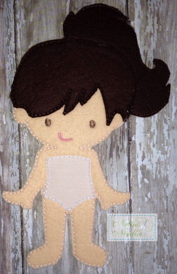 Ruthie Felt Girl Doll by NettiesNeedlesToo on Etsy, $9.00