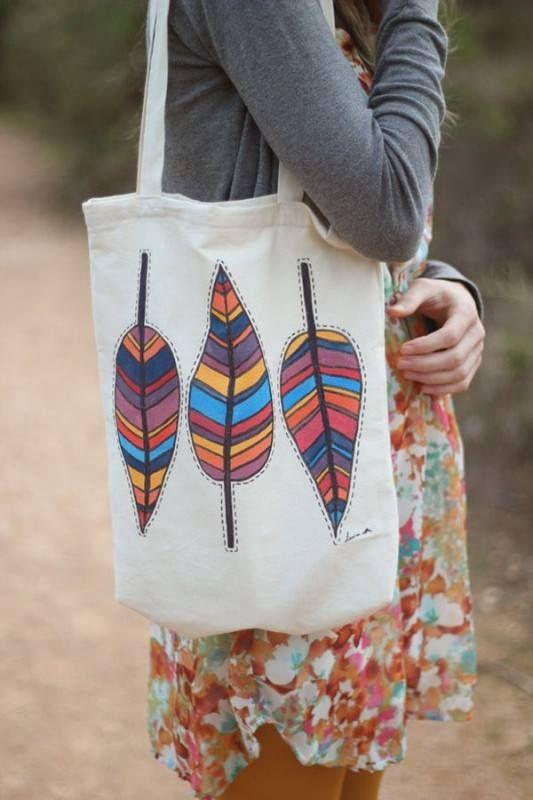 Fashion POSCA: ecobag personalizada!  Pra ver mais ideias, acesse: http://posca.com.br/