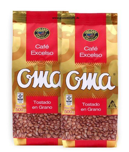 Cafe Grano Oma Colombian Coffee Oma Beans - http://mygourmetgifts.com/cafe-grano-oma-colombian-coffee-oma-beans/