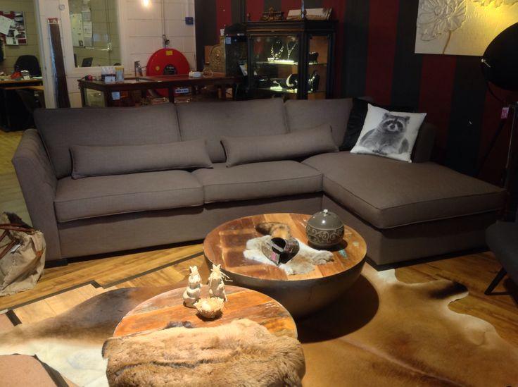 Schitterende hoekbank NICOLE 2.5 + Longchair ( 310 x 180 cm) € 1249.00