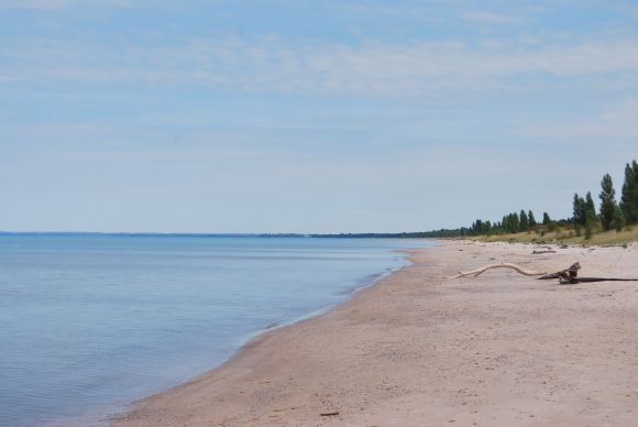 The beach at Pinery Provincial Park