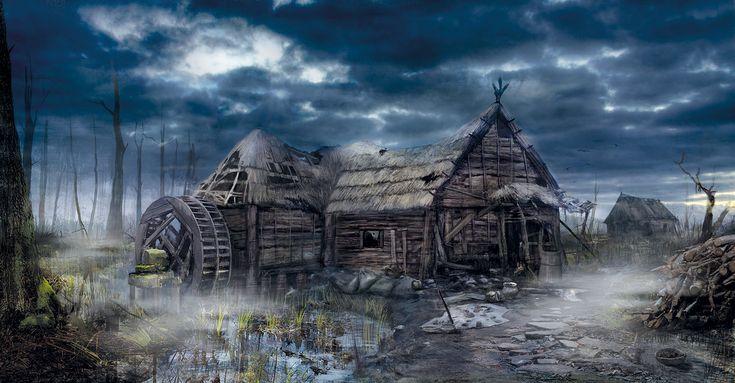 the_witcher_3_wild_hunt_mill_by_scratcherpen-d6en8n8.jpg (1920×1000)