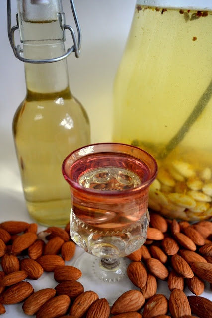Toast the New Year with Homemade Almond Liqueur ~ Liquore Alle Mandorle