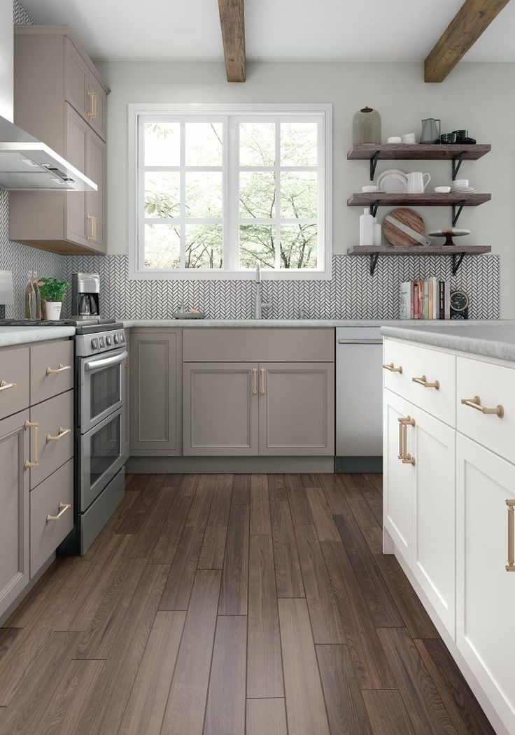 White And Gray Kitchen Cabinetry Ideas And Inspiration At Value Prices Be Inspired By These K Kitchen Design Small Kitchen Design New Kitchen Cabinets