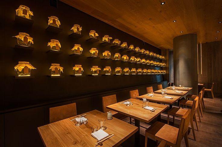 Design Detail – A Wall Of Uplit Glass Jars