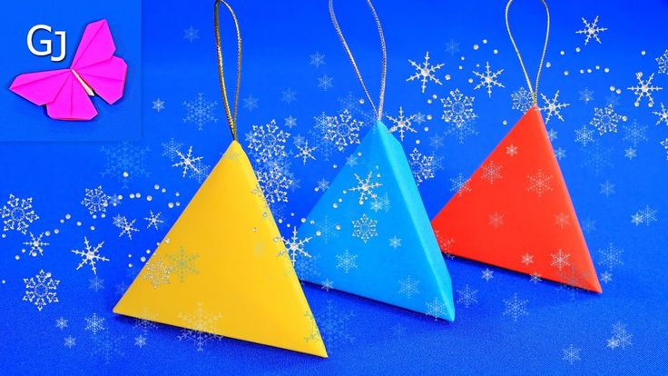 Новогодняя оригами коробочка с сюрпризом.