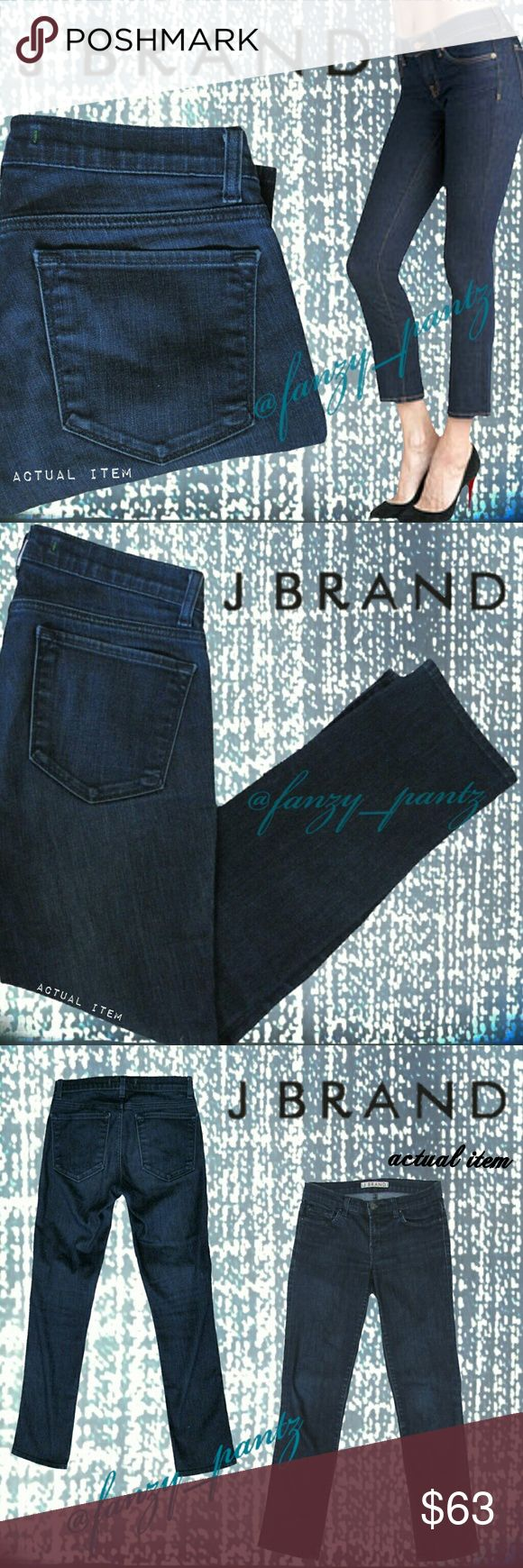 J Brand 926 Seven-Eighths ankle crop jeans 27 J Brand 926 style 7/8ths crop ~ capri~ mid-rise~ skinny~ ankle jeans in 'Eclipse' dark wash.  Photo 1 has a 'modeled' stock photo of exact style. All other photos are taken by me, of the actual item for sale. Measurements and other item details can be found in photo #5. Excellent condition. Absolutely no trades please! REASONABLE OFFERS THROUGH OFFER FEATURE ONLY PLEASE. 731750 J Brand Jeans Ankle & Cropped