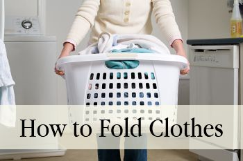 How to Fold Clothes    For those of us who aren't so great at the feat of folding things properly.