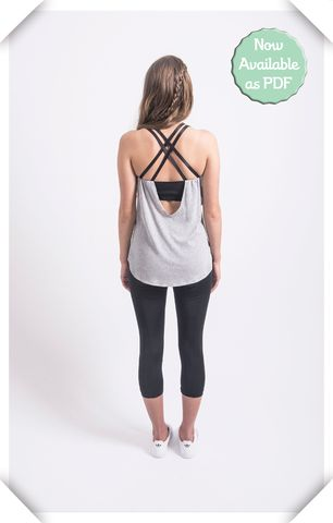 Pneuma Tank from Papercut Patterns (sports bra and tank pattern with cool cross over straps)