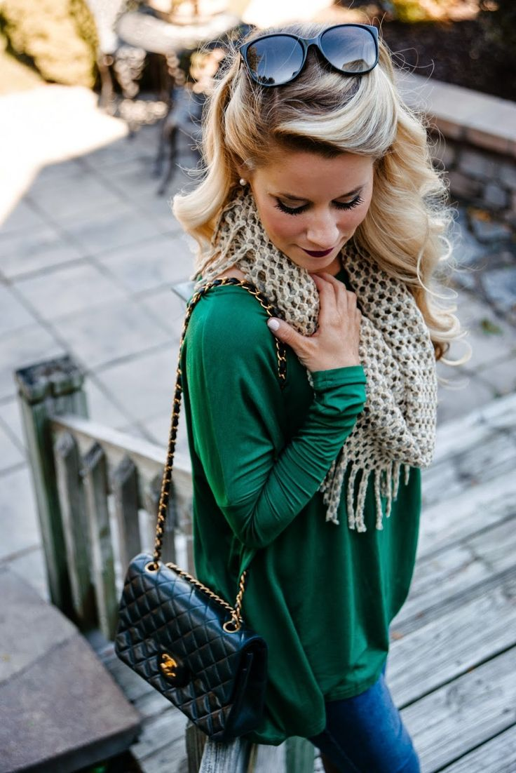 Pretty in Piko Top in Forest Green