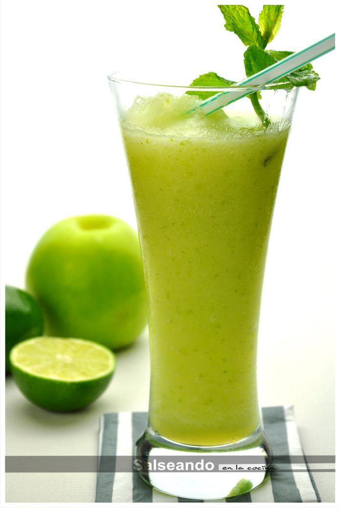 Salseando en la cocina: Granizado instantáneo de manzana verde y lima