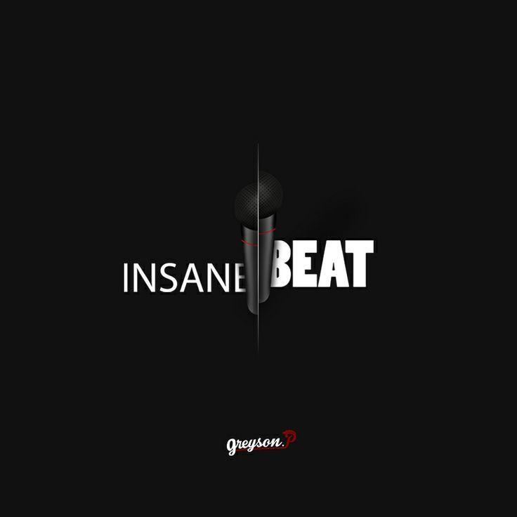 """Logo créer pour un groupe de beatboxer """"InsaneBeat"""" Noir"""