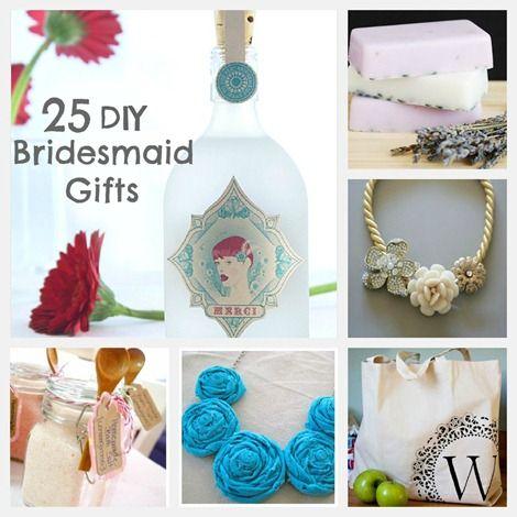 25 Simple and Sweet DIY Bridesmaid Gifts on EverythingEtsy.com #wedding #diy