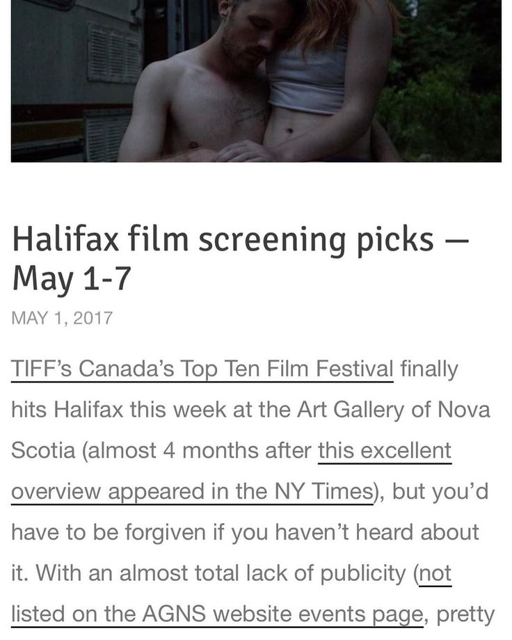 there's a secret daytime film festival happening this week!? checkout coveyonfilm.net for more details.  Halifax screenings this week: . Monday (May 1)  Window Horses: The Poetic Persian Epiphany of Rosie Ming Windsor Foundation Lecture Theatre @ AGNS 3pm free. Ann Marie Fleming 2016 Canada 89 minutes. . Tuesday (May 2)  Its Only the End of the World Windsor Foundation Lecture Theatre @ AGNS 3pm free. Xavier Dolan 2016 Canada/France 99 minutes. . Wednesday (May 3)  Old Stone (Lao Shi)…