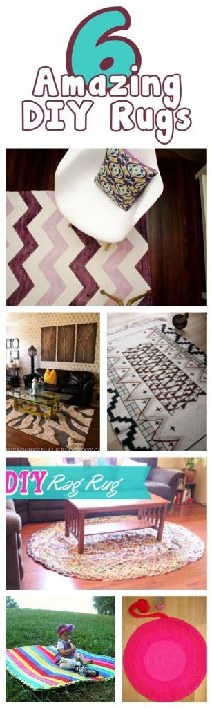 diy home sweet home: DIY Rugs. I want a rug in my bedroom. I wonder if any of these ideas will be the one.