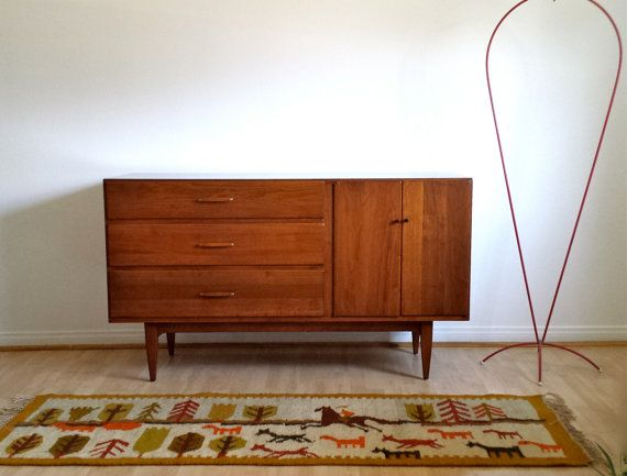 Mid Century Modern Sideboard Credenza by Conant Ball