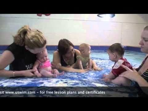 uSwim, Level 1, Skill 1 - Conditioning your baby how to teach your baby to swim, swimming lessons