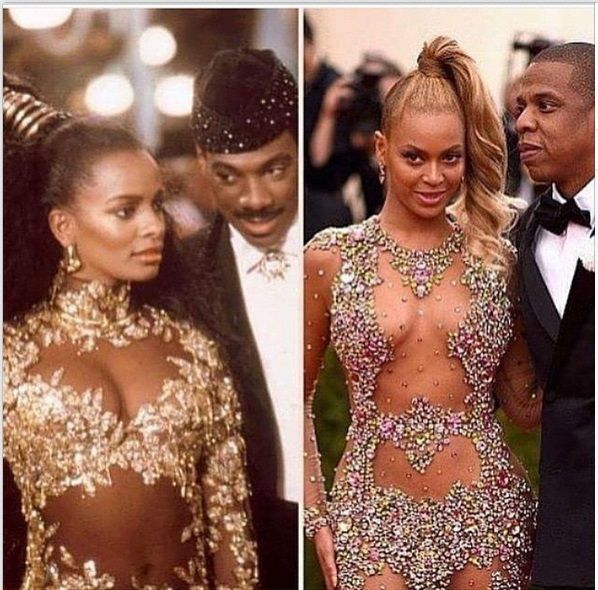 Did Queen Aoleon from Coming to America inspire Beyoncé's Met Gala getup? Beyoncé Meme