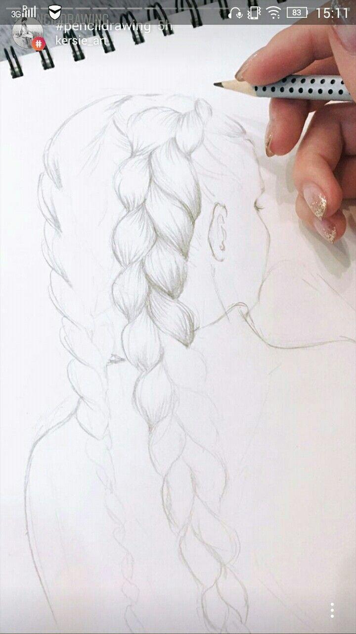 # tresses # cheveux # dessiner # croquis # essayer # facile # dessiner # dessins #art   – Kunst Bilder