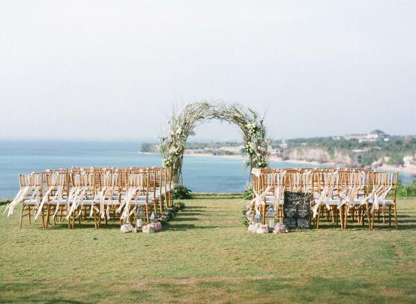 Romantic Cliff Top Wedding by the Sea in Bali: http://www.stylemepretty.com/2014/09/11/romantic-cliff-top-wedding-by-the-sea-in-bali/   Photography: Jemma Keech - http://jemmakeech.com/