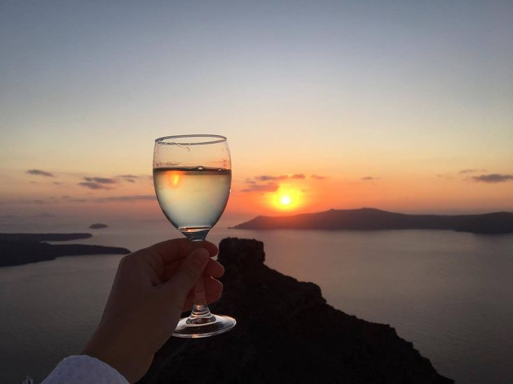 Let's raise a glass to the most amazing sunset in the world!