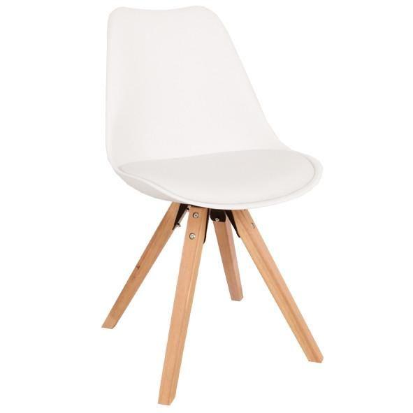 Shell spisebordsstol - Hvid/træ
