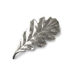 Decoration Leaf Pewter, designed by Birgitta Löwendahl for Svenskt Tenn. With inspiration from Estrid Ericson's design, where the oak leaf is often recurrent, Birgitta Löwendahl designed this oak leaf in 2012 for Svenskt Tenn.