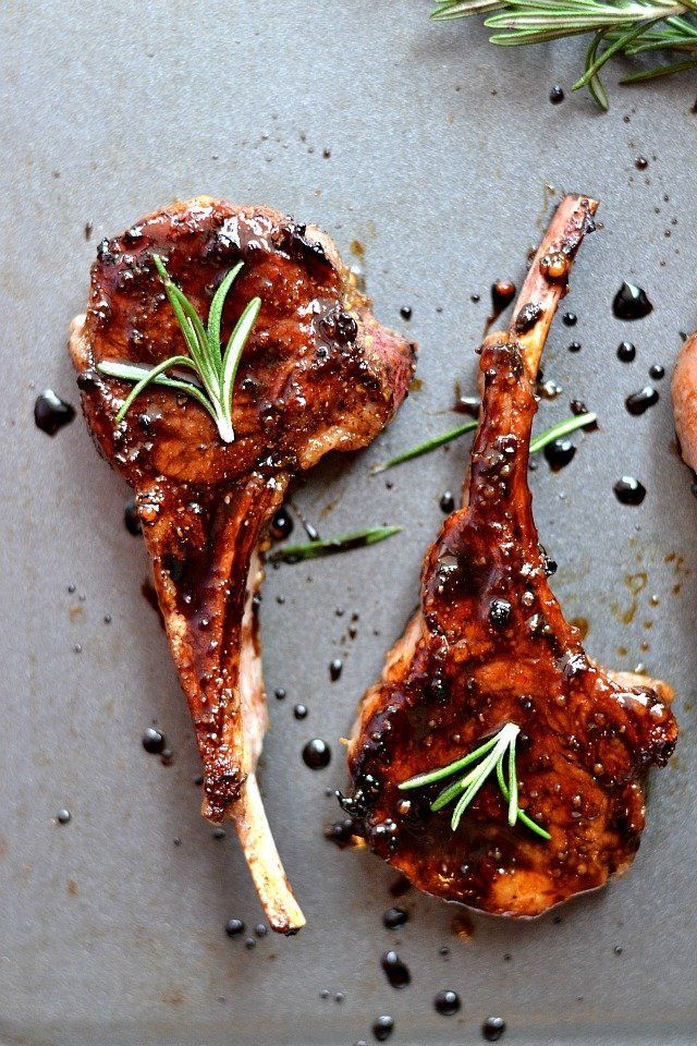 Honey Balsamic Lamb Chops for Two FoodBlogs.com
