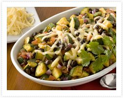 Zucchini and Black Beans with Chipolte Peppers - great for dinner beside one of our easy Turkey Roasts. #ButterballCanada
