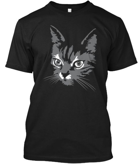 Black Cat Black T-Shirt Front