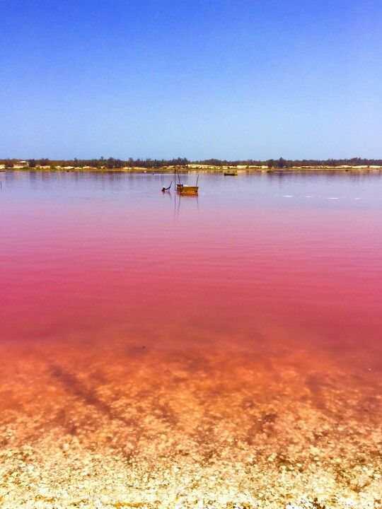 Lake Retba, Dakar area, Senegal