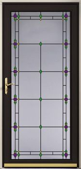 Ornamental Storm Doors | decorative glass storm door
