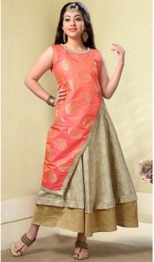 Orange Color Havy Broket,Benglori Silk Party Wear Girls Salwar Kameez | 11142452 Follow us @heenastyle #design #designer #fashion #dresses #girlsdresses #children #childrensapparel #indiella #wedding #girlsfashion #girl #girlsstyle #girlsparty #partydress #kids #kidsstyle #kidsfashion #dress #designerkidz #longsleevedress #onlineshopping #girlssummerdress #girlswear #buyhandcrafted #buybritishbrands #heenastyle #girlssalwarkameez #kidssalwarkameez