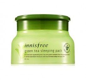 Die Green Tea Schlaf-Maske von Innisfree spendet Ihrer Gesichtshaut maximale Feuchtigkeit über Nacht. Der enthaltene Grüner Tee Extrakt versorgt Ihre Haut mit Vitaminen und schützt Sie vor dem Austrocknen. Tragen Sie die Maske einfach abends vor dem Schlafengehen auf Ihr Gesicht auf und wachen Sie morgens mit einer weichen, gepflegten Haut auf.