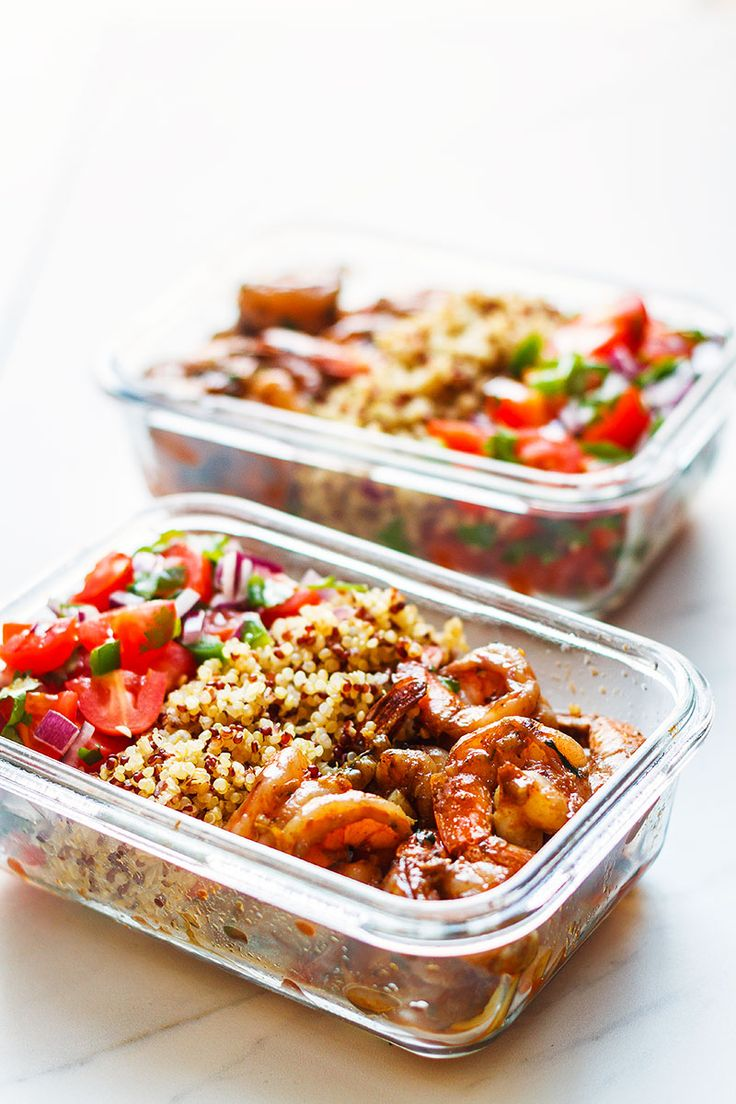 Shrimp Meal Prep - Quick, simple and nutritious, this shrimp and quinoa meal prep works great for easy lunches on the go.