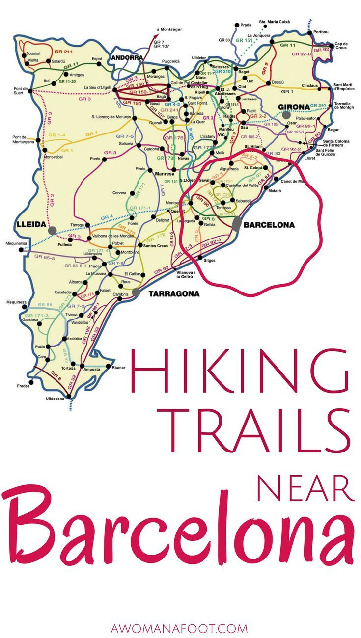 Hiking near Barcelona: mesmerizing views and rich cultural heritage. Learn about the many trails surrounding Barcelona and pick one that best suits your needs.  | #solo travel | hiking | trails in Spain | #hiking in #Catalonia | hiking #trails near #Barcelona | female #hikers |  awomanafoot.com