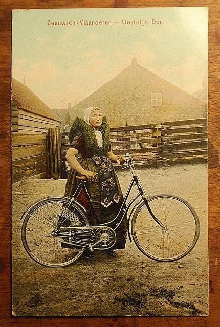 ZEELAND FEMALE CYCLIST by spiers65, via Flickr #Zeeland #Axel