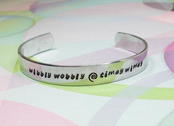Doctor Who Bracelet Wibbly Wobbly Timey Wimey by JustDuckieDesigns, $14.40