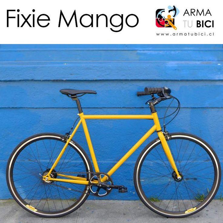 #bicicleta #fixie 'Mango' desde $194.900 en #armatubici_cl ! Piñón fijo-libre. Disponible también con cambios y marco de aluminio. Más #bicicletas en www.armatubici.cl #pedalearesdivertido #pedalealoco #arribadelachancha #furiososciclistas #enbiciando #bici