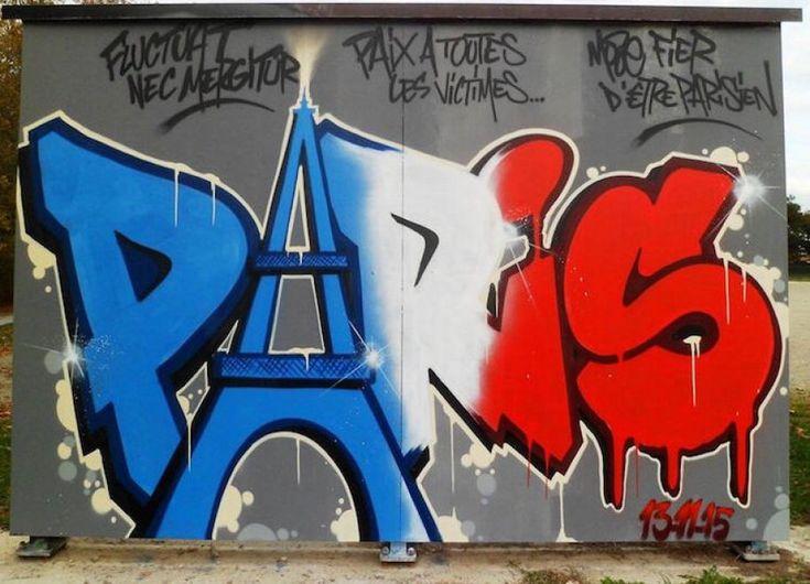 #SprayforParis, i murales dei writer contro il terrore