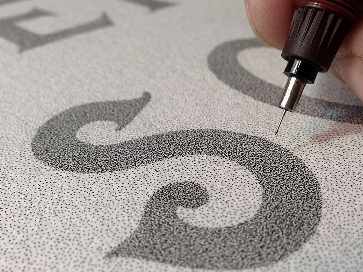 Overso | Patience & Discipline Xavier Casalta - Rémy Boiré - typographie - calligraphie - pointillisme - encre - rotring - work in progress - making of