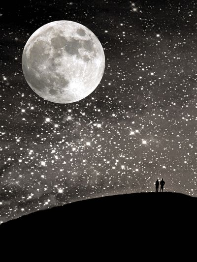 What a sight... I love the stars and the moon!